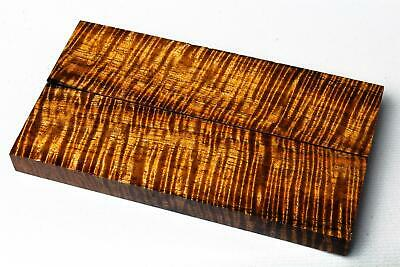Stabilized Curly Koa Exotic Wood Knife Scales    SCL8928