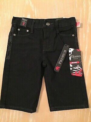 New! Boy's Chams Denim Jeans Black Size 7