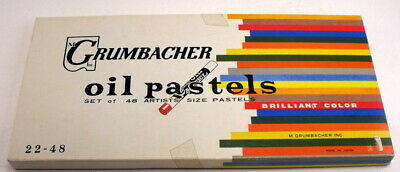 Vintage Grumbacher Brillant Color Oil Pastels Japan 22-48 Excellent