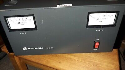 Vtg ASTRON Power Supply - 50 Amp With Seperate Volt & Amp Meters # RS-50M Works