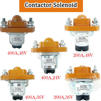 MZJ-400A/MZJ-200A Contactor Solenoid 24-48V for Heavy Duty Golf Cart Replacement