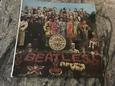 'Sgt PEPPERS' vinyl album by the Beatles - VG condition - part of a collection.