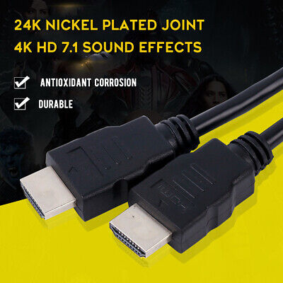 Long HDMI Cable High Speed v2.0 HD 4K 3D ARC For PS3 PS4 XBOX ONE SKY TV Lead UK