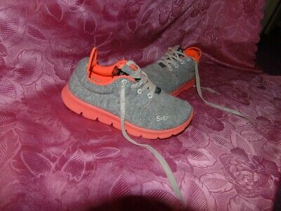 Superdry Lace up  Runner Shoes Trainers grey/orange Light Colours UK 5