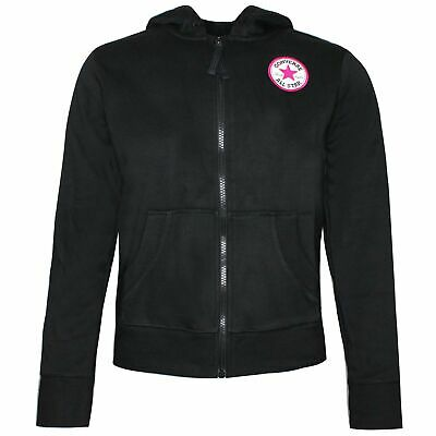 Converse Junior Girls Chuck Patch Hoodie Full Zip Sweatshirt 462293 KA0