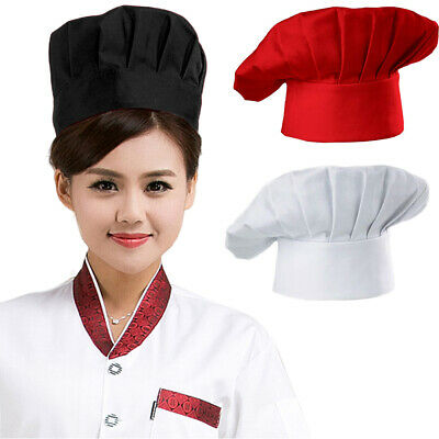 Pro Men Women Chef Hat Cap Adjustable Kitchen Cooking Baker Headwear Newly