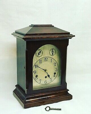 Edwardian Mahogany Bracket Clock With Westminster Chime With Strike / Silent.