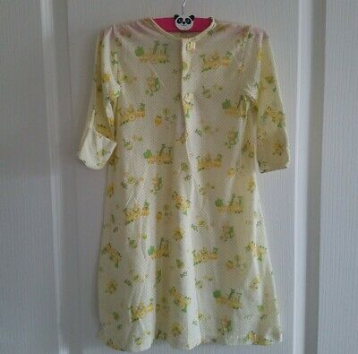 Vtg Carters Infant Gown   Layette NB Green Yellow Bears Clowns 70s Nursery USA