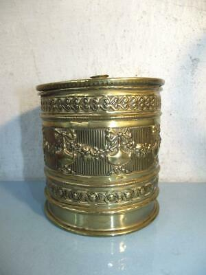 Art Nouveau Brass Embossed String Box Unknown Maker Prob. English C 1920