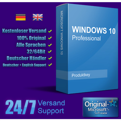 Licenza Windows 10 Pro Retail Italiana Originale 32 / 64 Bit Product Key Win 10
