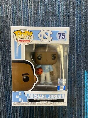 Funko Pop Basketball #75 Michael Jordan Warm Ups North Carolina In Hand