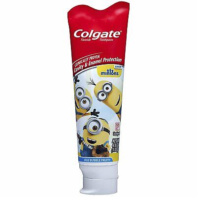 Colgate Kids Minions Toothpaste, Mild Bubble Fruit 4.60 oz (Pack of 7)