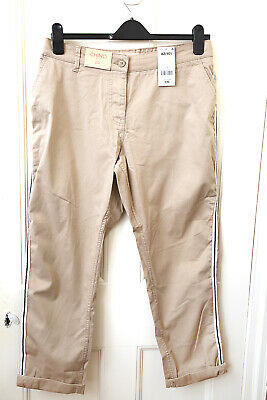 NEXT Straight Fit Ladies Beige Chino Trousers 98% Cotton 2% Elastane .S 18  NEW