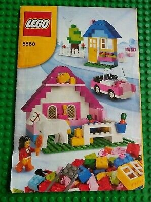 Lego Classic - 5560 - Large Pink Brick Box - Instruction Manual / Booklet Only