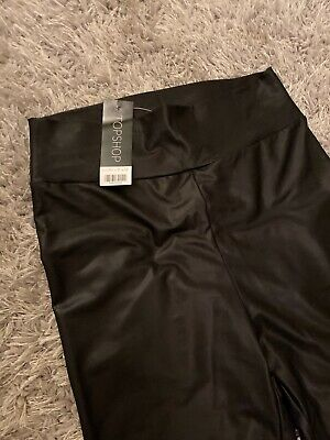 Topshop Leather Look Leggings Size 12