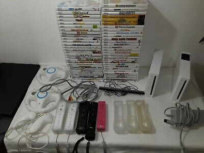 Huge  Nintendo Wii Lot2 Wii Consoles 5 Wii Remotes .80+games Tested rayman lego