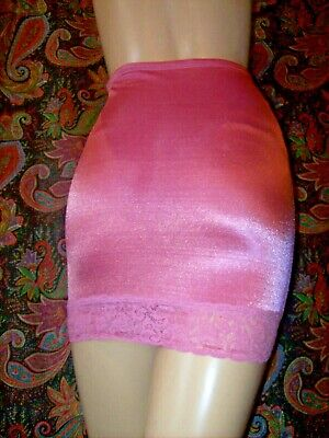 Vintage Hanes Lacy Pink High Waist Girdle Slimmer Half Slip With Panty L