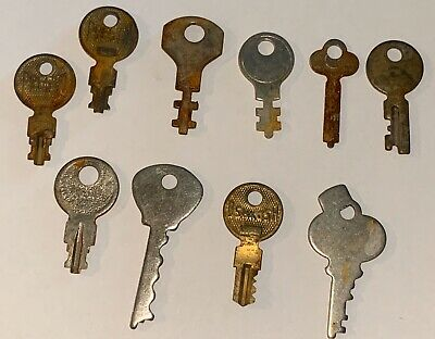 Lot of 10 Vintage Factory Cut Key - Luggage - Steamer Trunk Suitcase Excelsior