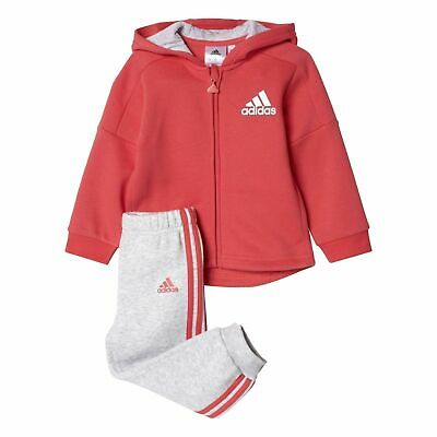 Adidas Girls Tracksuit Terry Hooded Full Zip Tracksuit Size 18-24 Months New £22