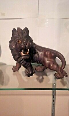 Carved Black Forest Lion Mahogany Best Example