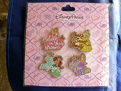 Disney's * PRINCESS / PRINCESSES with QUOTES * NEW 4 pin BOOSTER Set