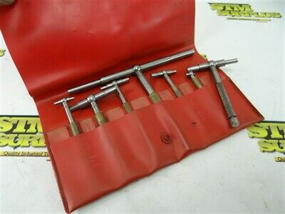 """6Pc Set Of Starrett Telescoping Gages #S579H 5/16"""" To 6"""" + Extra 579-D"""