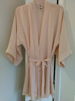 IN BLOOM-Jonquil Short Wrap Robe, M/L  Blush Pink Slightly Iridescent VERY NICE!