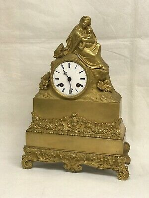 French Empire Ormolu Clock - Silk Suspension, Chimes On A Bell.