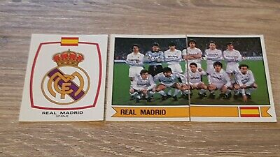 Real Madrid Panini Football Stickers 1988 Logo & Team Dutch Issue Voetbal 88