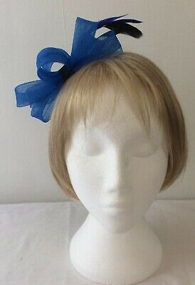 *SALE* Cobalt Blue with Black Feather Headband Fascinator BNWOT