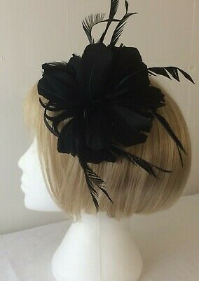 *SALE* Black Feather Fascinator Alligator Hair Clip - Pin BNWOT