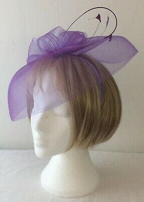 *SALE* Debut - Purple Twisted Quill Feather Headband Fascinator BNWT