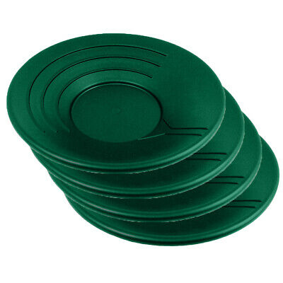 Set of 4 Gold Pan Gravity Trap Miner Prospecting Panning Sluice Tool - Green 14""