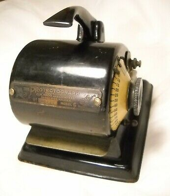 Vintage Protectograph Check Writing Machine Model G 1905 Still Works