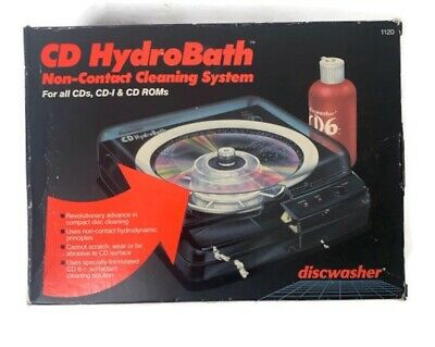 CD HydroBath Model 1120 Non-contact Cleaning System Discwasher Recoton