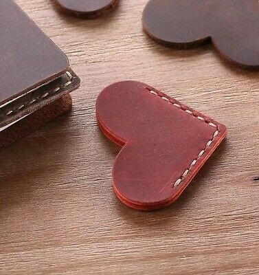 Rustic Handcrafted Heart Leather Bookmark bococo