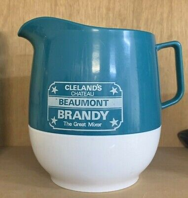 Vintage South Australia Cleland's Chateau Beaumont Brandy Plastic Water Jug