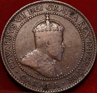 1910 Canada One Cent Foreign Coin