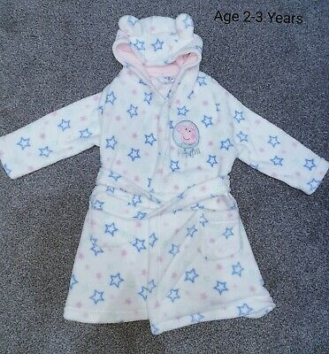 Girls Peppa Pig Dressing Gown 2-3 Years - Hardly Worn - Excellent Condition