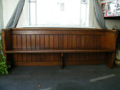 Antique Pitch Pine Ornate Pew Over 2 Meters in Length WV3