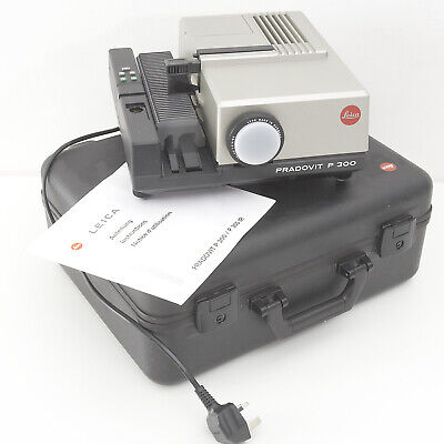 Leica Pradovit P300 Slide Projector In Original Case & Instructions Vgc