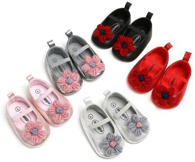 Newborn Baby Girl Flower Crib Crawling Shoes Infant Child Princess Party Shoes