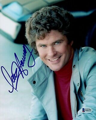 David Hasselhoff Signed Photo - KNIGHT RIDER - G818