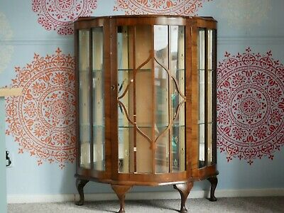 wooden display cabinet with glass doors dresser Possible Shabby Chic Project !!