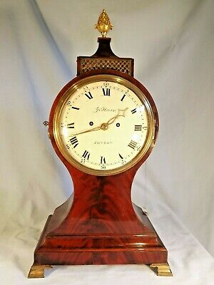 Superb Quality Regency Mahogany Twin Fusee Balloon Clock C1820.