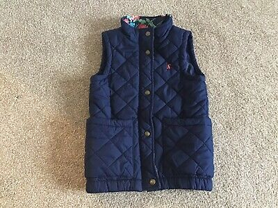 Joules Girls Age 7yr Navy Blue Gilet