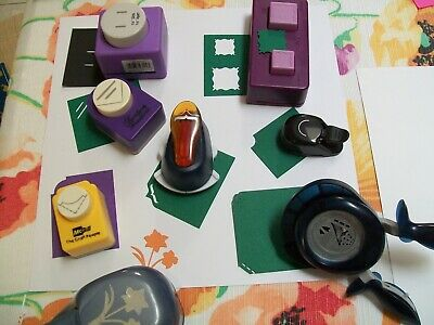 Large Lot Of 8 Paper Crafting Punches