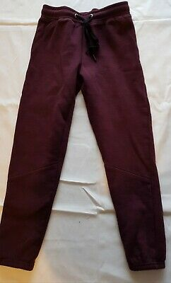 2 Pairs Of Girls Jogging Bottoms By Very Size 7-8 Grey and Burgundy