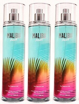 3 Bath & Body Works MALIBU HEAT Fine Fragrance Body Mist Spray