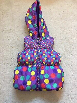 Girls Beautiful Purple Spotted Gillet By Indigo @ M & S Age 3-4 Years